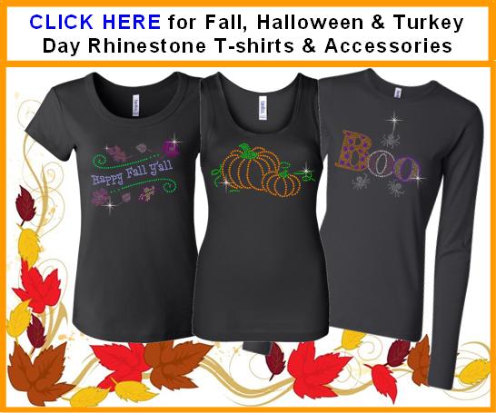 Halloween Fall Thanksgiving rhinestone shirts gifts for mom