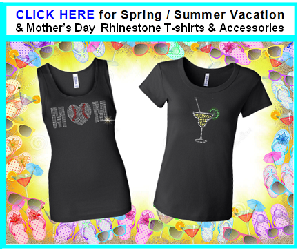 Mothers Day rhinestone shirts gifts for mom